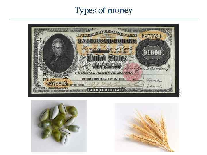 Types of money