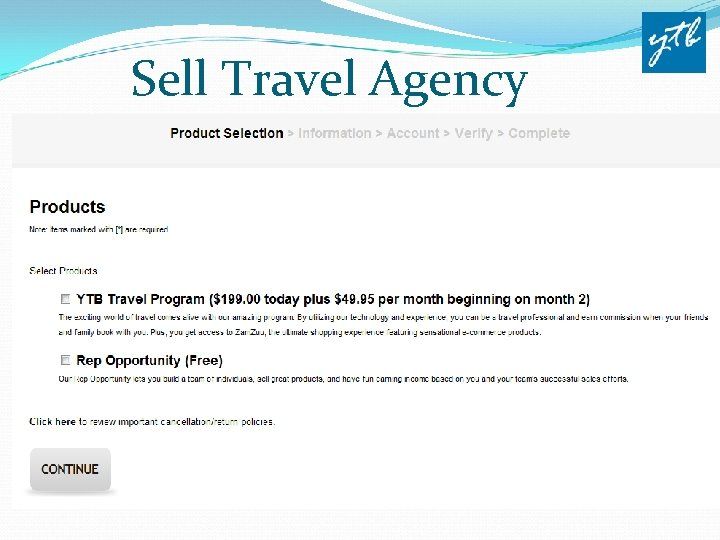 Sell Travel Agency