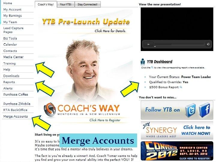 Rep Back Office Merge Accounts