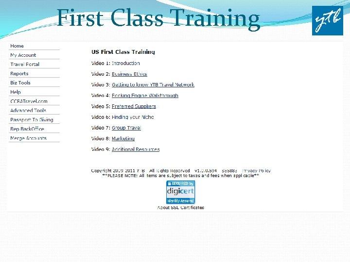 First Class Training