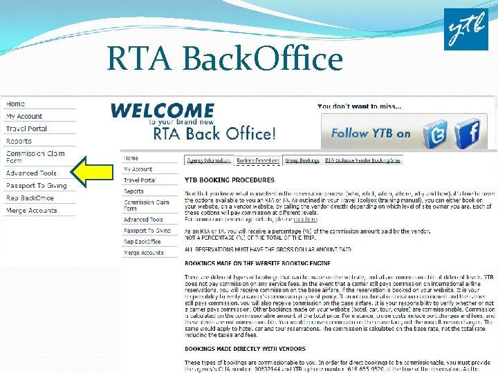 RTA Back. Office