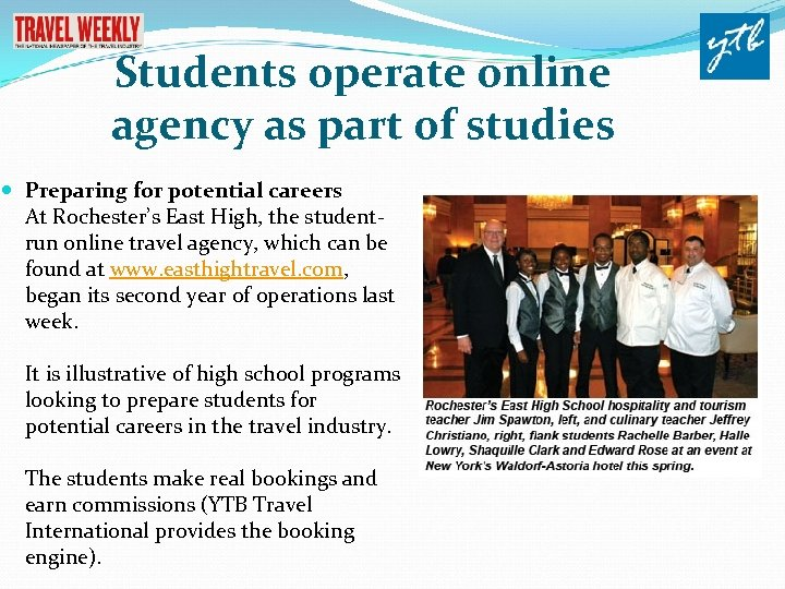 Students operate online agency as part of studies Preparing for potential careers At Rochester's