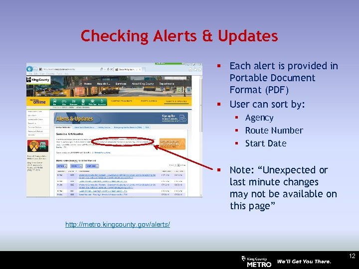 Checking Alerts & Updates § Each alert is provided in Portable Document Format (PDF)