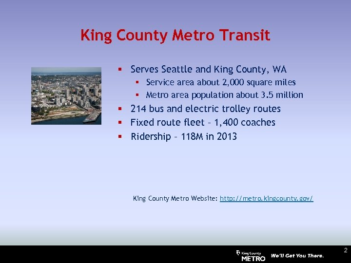 King County Metro Transit § Serves Seattle and King County, WA § Service area