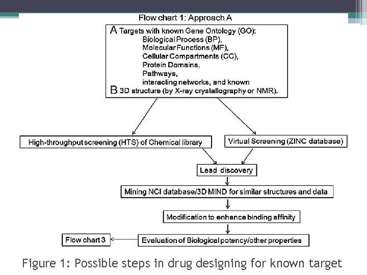 Figure 1: Possible steps in drug designing for known target