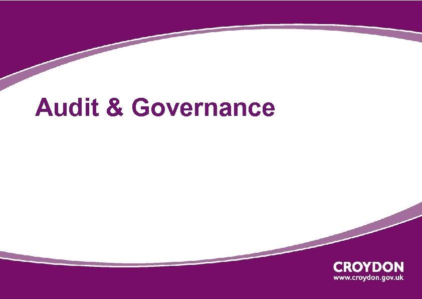 Audit & Governance
