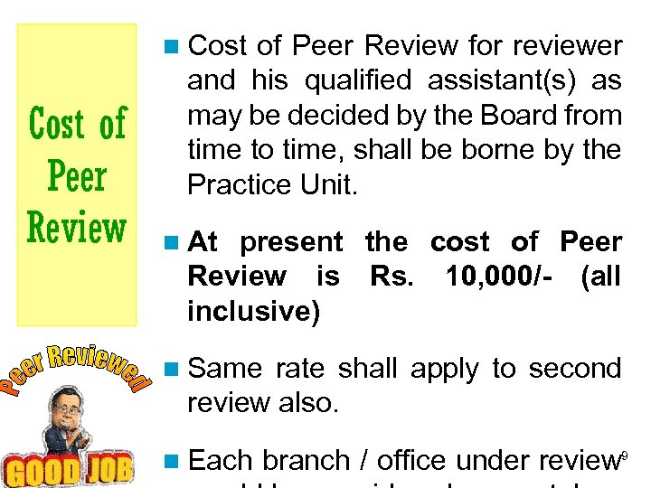 n Cost of Peer Review for reviewer Cost of Peer Review and his qualified