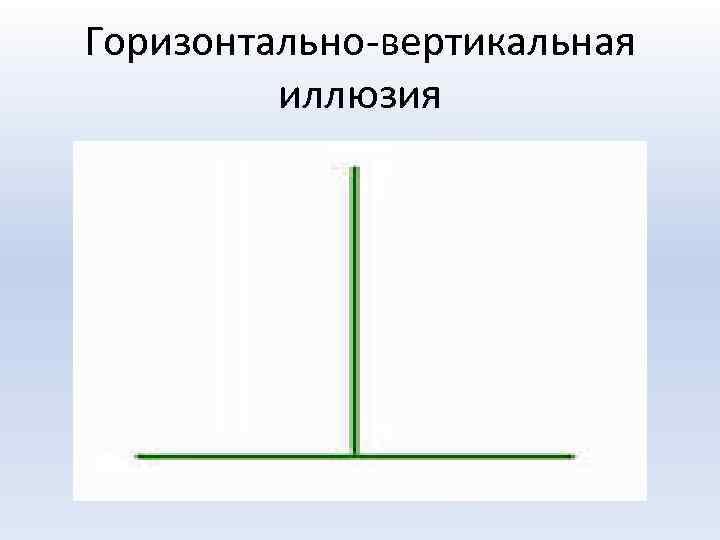 Горизонтально-вертикальная иллюзия