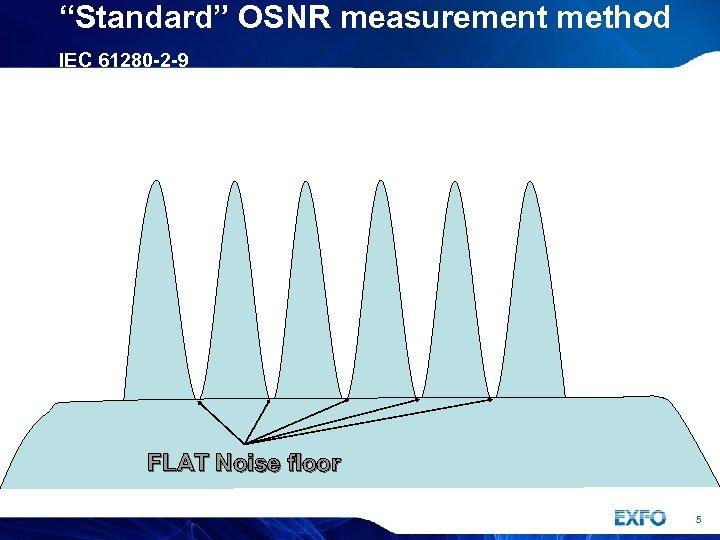 """Standard"" OSNR measurement method IEC 61280 -2 -9 FLAT Noise floor 5"