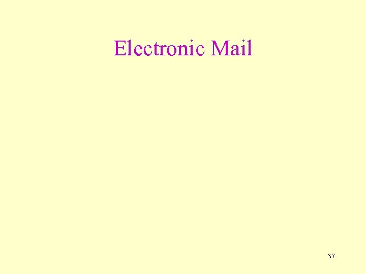 Electronic Mail 37