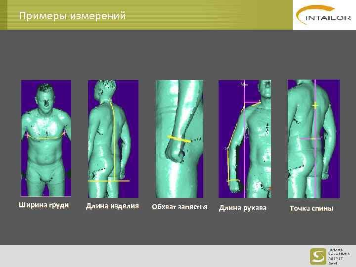 Примеры измерений Ширина груди Длина изделия Обхват запястья Длина рукава Точка спины