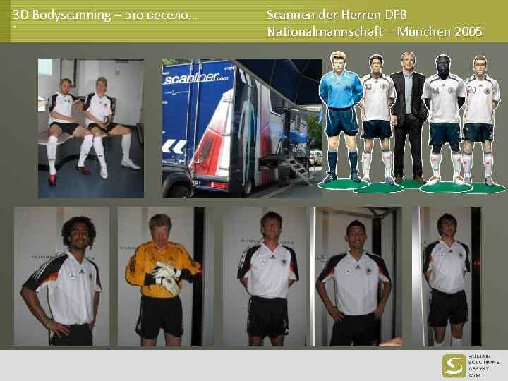 3 D Bodyscanning – это весело… ´ Scannen der Herren DFB Nationalmannschaft – München