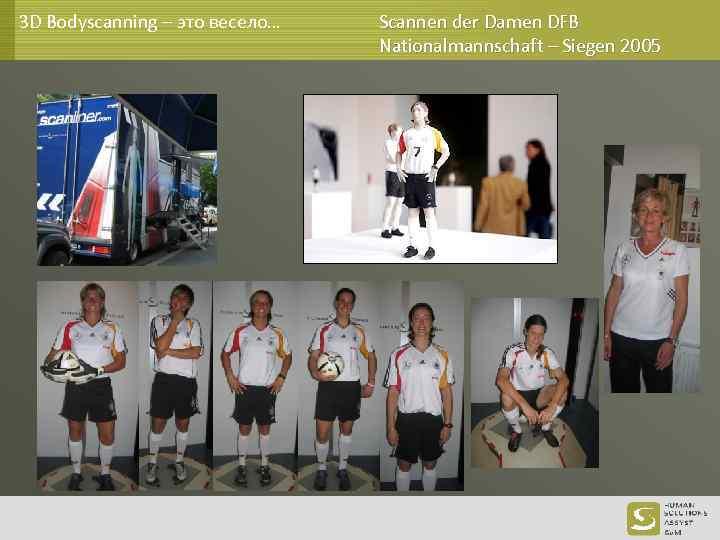 3 D Bodyscanning – это весело… Scannen der Damen DFB Nationalmannschaft – Siegen 2005