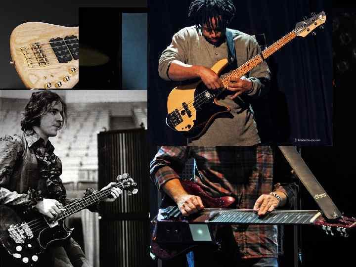 Бас-гітара Створює так звану ритм-секцію. Ритм-секція тримає ритм в той час , як головний