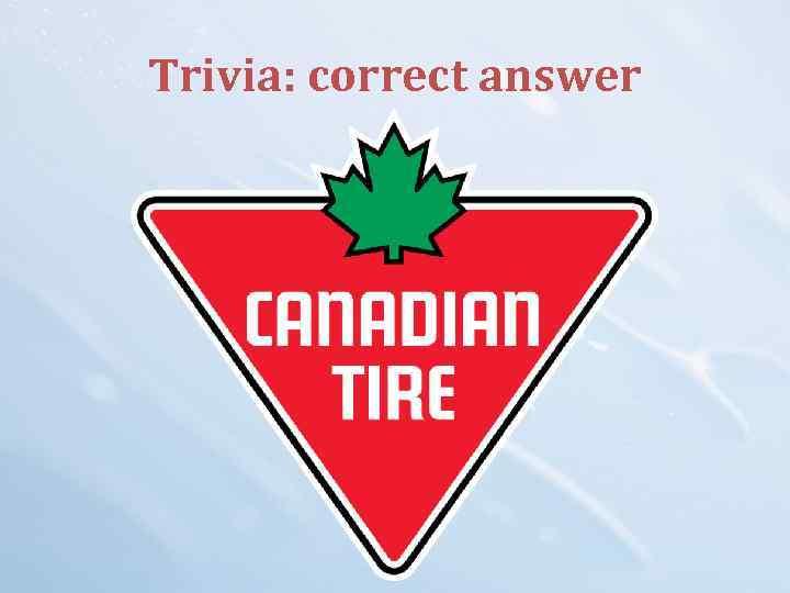 Trivia: correct answer