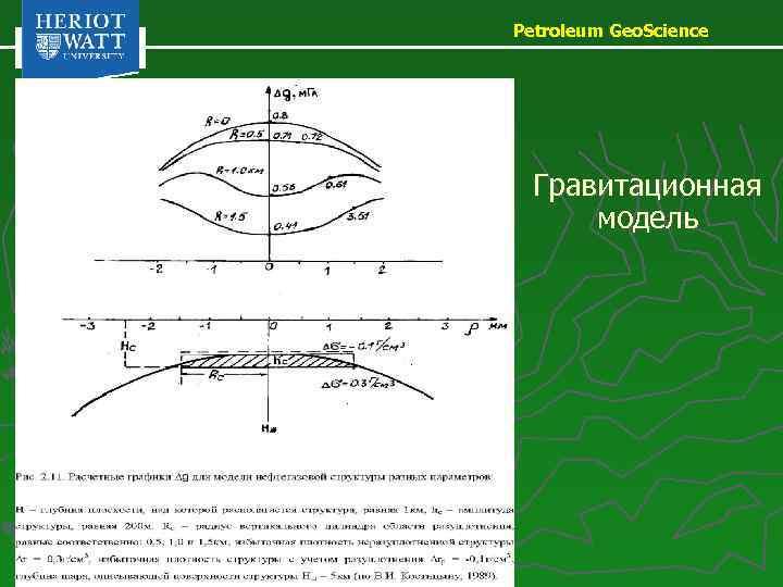 Petroleum Geo. Science Гравитационная модель