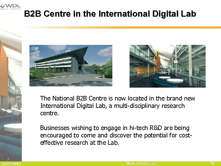 B 2 B Centre in the International Digital Lab The National B 2 B