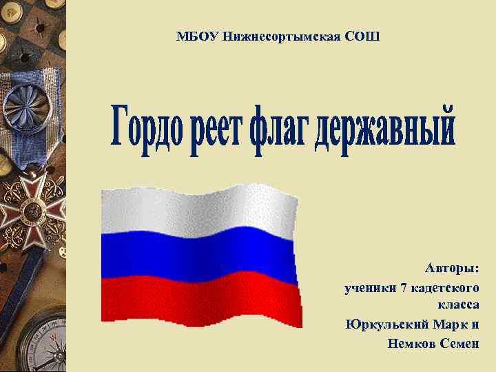 МБОУ Нижнесортымская СОШ Авторы: ученики 7 кадетского класса Юркульский Марк и Немков Семен