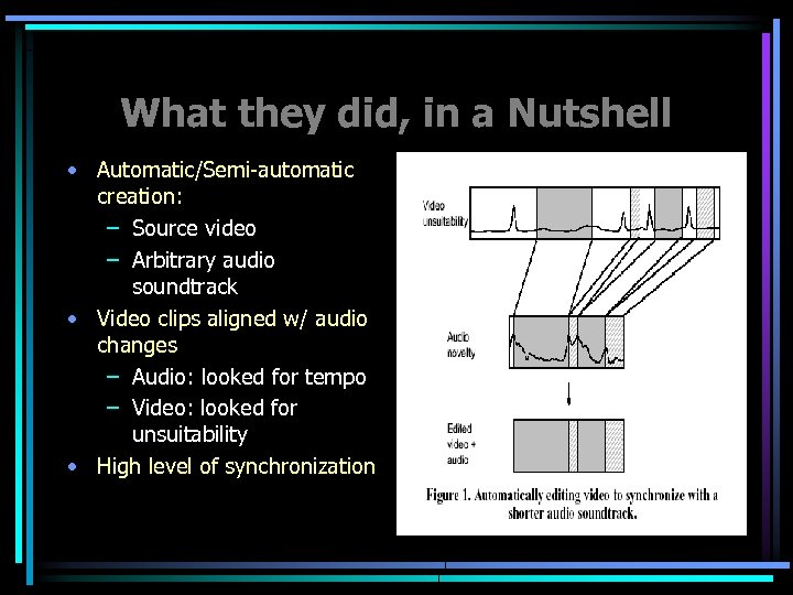 What they did, in a Nutshell • Automatic/Semi-automatic creation: – Source video – Arbitrary