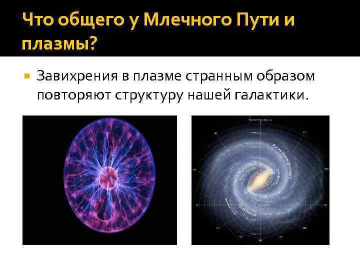 Что общего у Млечного Пути и плазмы? Завихрения в плазме странным образом повторяют структуру