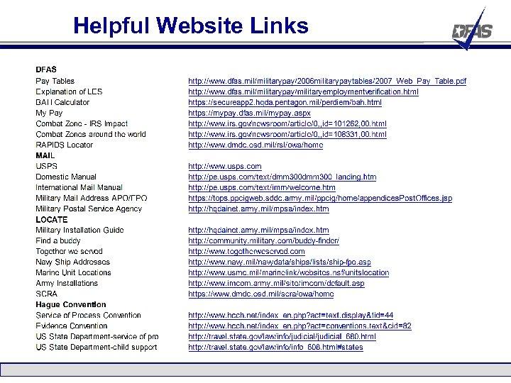 Helpful Website Links