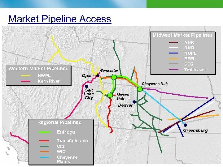 Market Pipeline Access Midwest Market Pipelines Western Market Pipelines NWPL Kern River ANR NNG