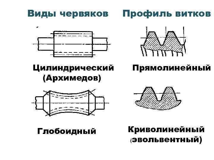 Червяк архимедов профиль зуба