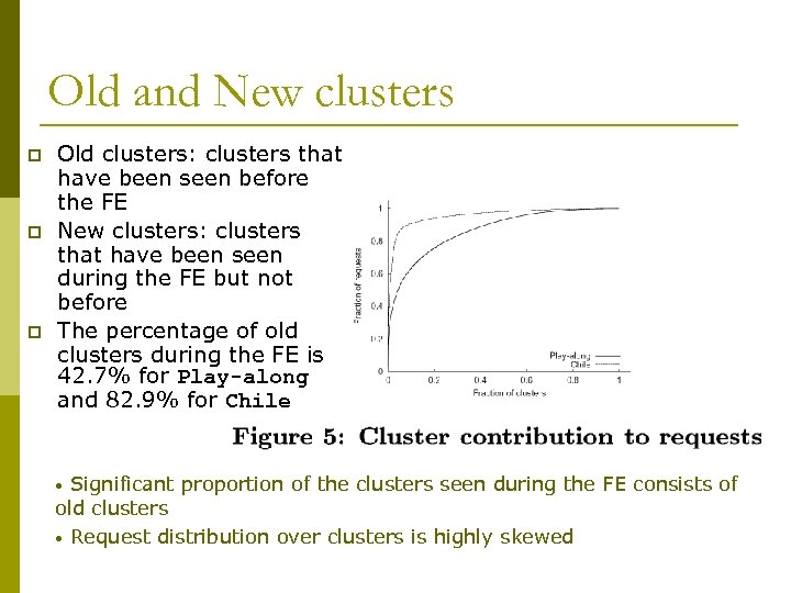 Old and New clusters p p p Old clusters: clusters that have been seen