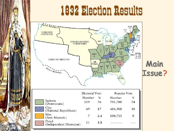 1832 Election Results Main Issue ?