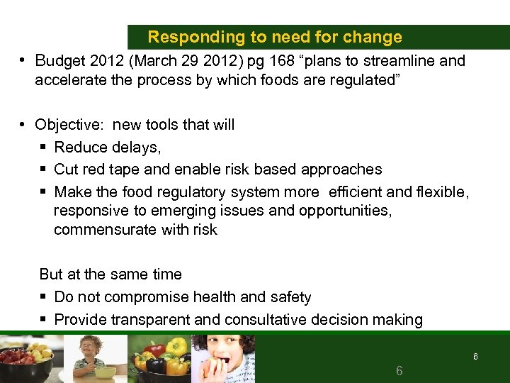 """Responding to need for change • Budget 2012 (March 29 2012) pg 168 """"plans"""