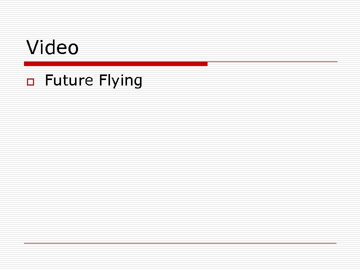 Video o Future Flying