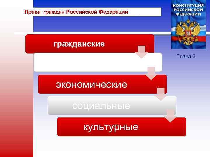 Права граждан Российской Федерации гражданские политические экономические социальные культурные Глава 2