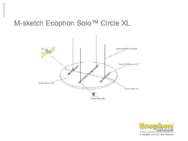 M-sketch Ecophon Solo™ Circle XL