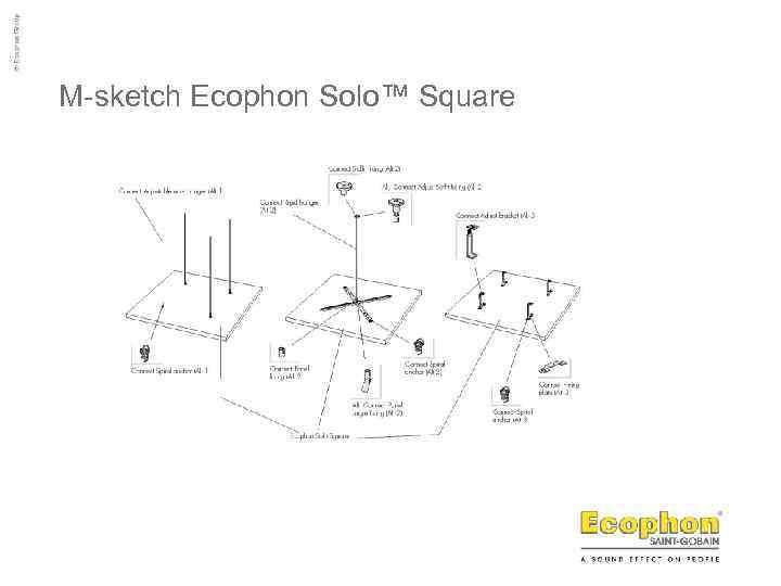 M-sketch Ecophon Solo™ Square