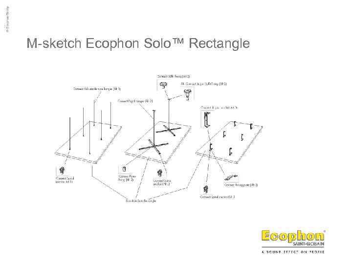 M-sketch Ecophon Solo™ Rectangle