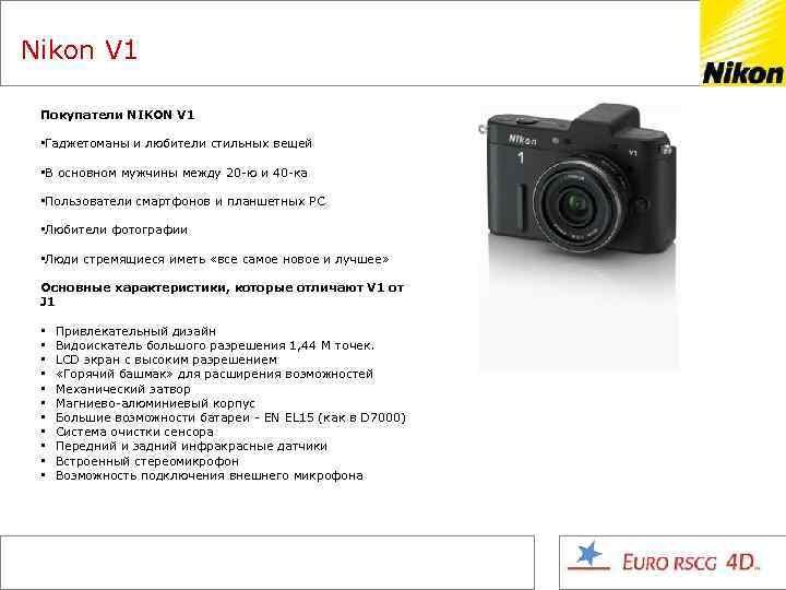 Nikon V 1 Покупатели NIKON V 1 • Гаджетоманы и любители стильных вещей •