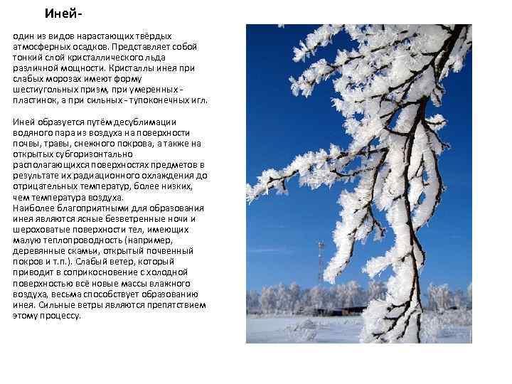 Инейодин из видов нарастающих твёрдых атмосферных осадков. Представляет собой тонкий слой кристаллического льда различной