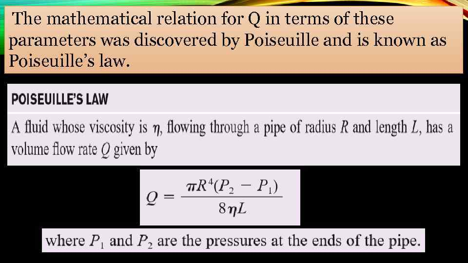 The mathematical relation for Q in terms of these parameters was discovered by