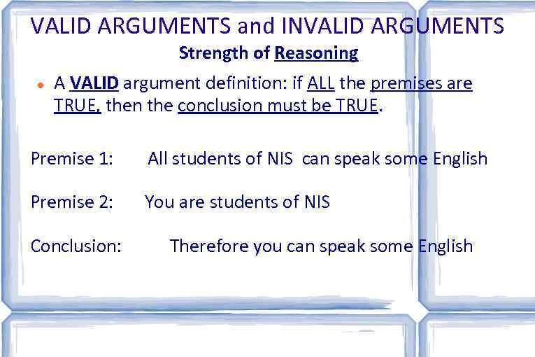 argument english definition
