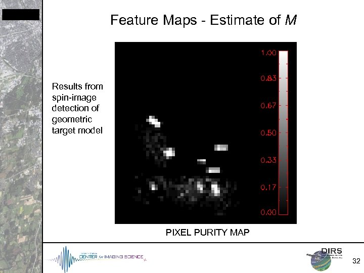 Feature Maps - Estimate of M Results from spin-image detection of geometric target model