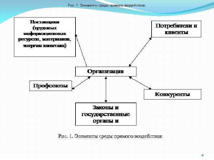 Рис. 1. Элементы среды прямого воздействия. Рис. 1. Элементы среды прямого воздействия 4
