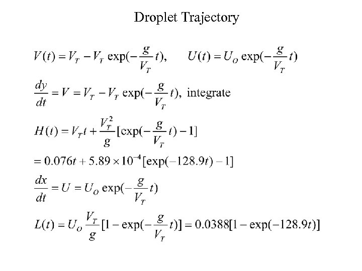 Droplet Trajectory