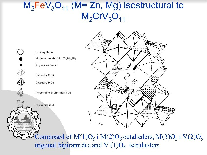 M 2 Fe. V 3 O 11 (M= Zn, Mg) isostructural to M 2
