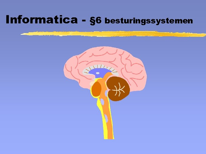 Informatica - § 6 besturingssystemen