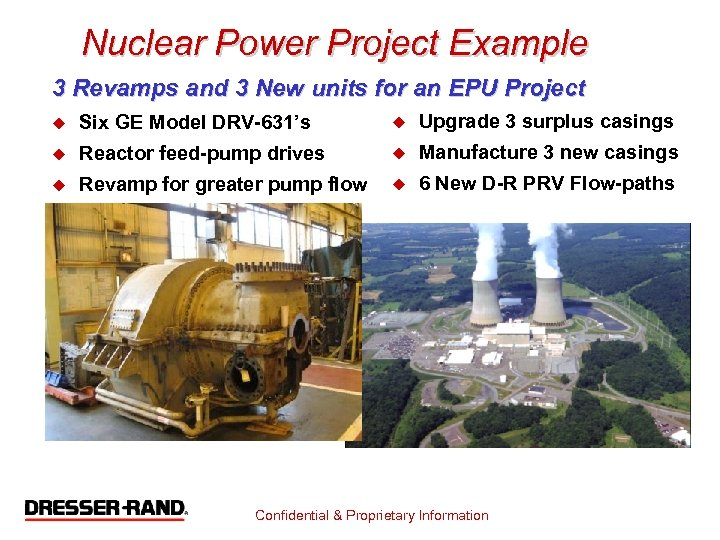 Nuclear Power Project Example 3 Revamps and 3 New units for an EPU Project