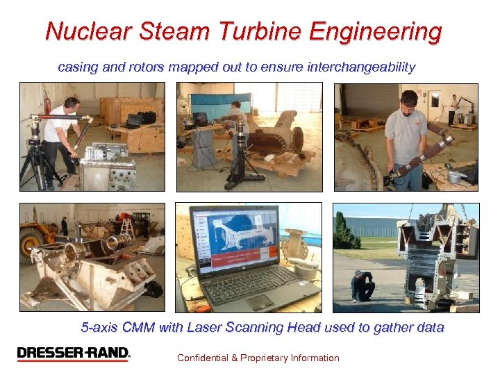Nuclear Steam Turbine Engineering casing and rotors mapped out to ensure interchangeability 5 -axis