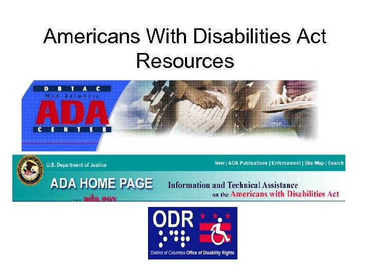 Americans With Disabilities Act Resources