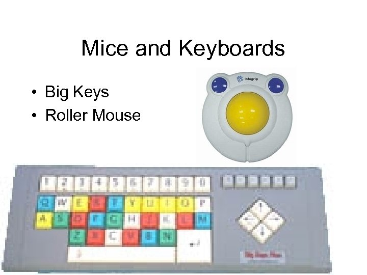 Mice and Keyboards • Big Keys • Roller Mouse