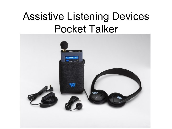 Assistive Listening Devices Pocket Talker
