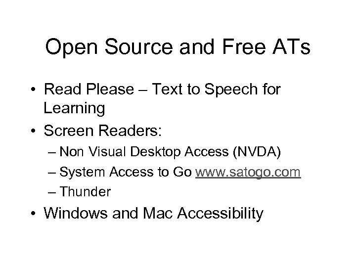Open Source and Free ATs • Read Please – Text to Speech for Learning